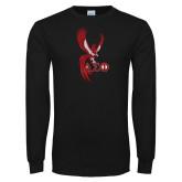 Black Long Sleeve TShirt-Phoenix w/ Greek Letters