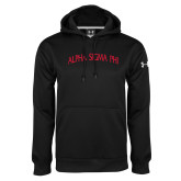 Under Armour Black Performance Sweats Team Hoodie-Alpha Sigma Phi Arch
