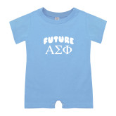 Light Blue Infant Romper-Future Greek Letters