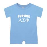 Light Blue Infant Romper-Future Greek Letters
