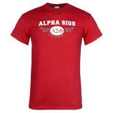 Red T Shirt-Alpha Sigs 1845