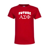 Youth Red T Shirt-Future Greek Letters