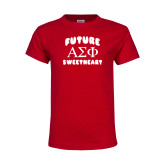 Youth Red T Shirt-Future Greek Letters Sweetheart