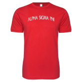 Next Level SoftStyle Red T Shirt-Alpha Sigma Phi Arch