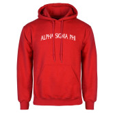 Red Fleece Hoodie-Alpha Sigma Phi Arch