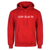Red Fleece Hoodie-Alpha Sigma Phi Flat