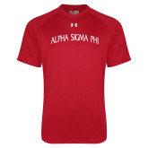Under Armour Red Tech Tee-Alpha Sigma Phi Arch