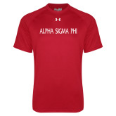 Under Armour Red Tech Tee-Alpha Sigma Phi Flat