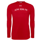 Under Armour Red Long Sleeve Tech Tee-Alpha Sigma Phi Arch