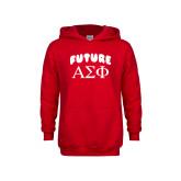 Youth Red Fleece Hoodie-Future Greek Letters