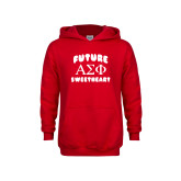 Youth Red Fleece Hoodie-Future Greek Letters Sweetheart