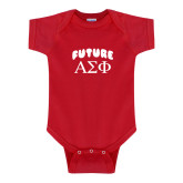 Red Infant Onesie-Future Greek Letters