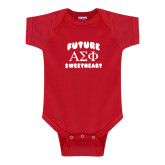 Red Infant Onesie-Future Greek Letters Sweetheart