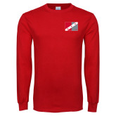 Red Long Sleeve T Shirt-Fraternity Flag