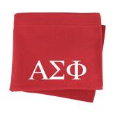 Red Sweatshirt Blanket-Greek Letters