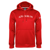 Under Armour Red Performance Sweats Team Hoodie-Alpha Sigma Phi Arch