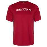 Performance Red Tee-Alpha Sigma Phi Arch