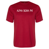 Performance Red Tee-Alpha Sigma Phi Flat