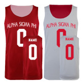 Red/White Reversible Tank-Personalized Arched Alpha Sigma Phi