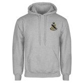 Grey Fleece Hoodie-Coat of Arms