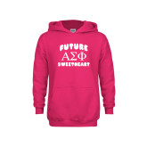 Youth Raspberry Fleece Hoodie-Future Greek Letters Sweetheart