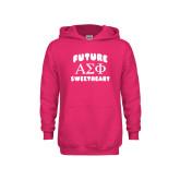 Youth Raspberry Fleece Hoodie-Future Greek Letters Sweetheart