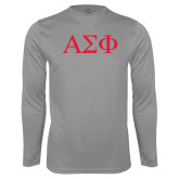Performance Steel Longsleeve Shirt-Greek Letters