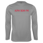 Performance Steel Longsleeve Shirt-Alpha Sigma Phi Flat