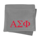 Grey Sweatshirt Blanket-Greek Letters