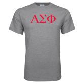 Grey T Shirt-Greek Letters