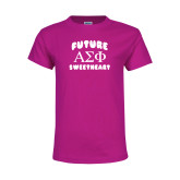 Youth Fuchsia T Shirt-Future Greek Letters Sweetheart