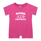 Bubble Gum Pink Infant Romper-Future Greek Letters Sweetheart