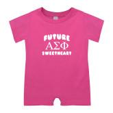 Bubble Gum Pink Infant Romper-Future Greek Letters Sweetheart