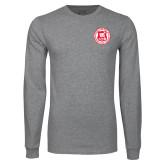 Grey Long Sleeve T Shirt-Seal