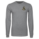 Grey Long Sleeve T Shirt-Coat of Arms
