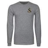 Grey Long Sleeve T Shirt-Coat of Arms
