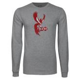 Grey Long Sleeve T Shirt-Phoenix w/ Greek Letters