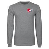 Grey Long Sleeve T Shirt-Fraternity Flag