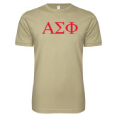 Next Level SoftStyle Khaki T Shirt-Greek Letters