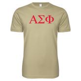 Next Level SoftStyle Khaki T Shirt-Greek Letters