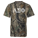 Realtree Camo T Shirt-Greek Letters