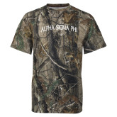 Realtree Camo T Shirt-Alpha Sigma Phi Arch