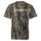 Realtree Camo T Shirt-Alpha Sigma Phi Flat