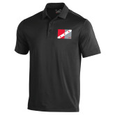 Under Armour Black Performance Polo-Fraternity Flag