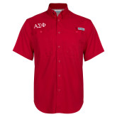 Columbia Bonehead Red Short Sleeve Shirt-Greek Letters