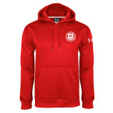 Under Armour Red Performance Sweats Team Hoodie-Seal