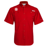 Columbia Tamiami Performance Red Short Sleeve Shirt-Seal