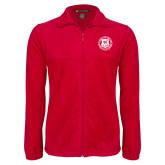 Fleece Full Zip Red Jacket-Seal