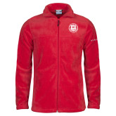Columbia Full Zip Red Fleece Jacket-Seal