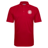 Red Textured Saddle Shoulder Polo-Seal